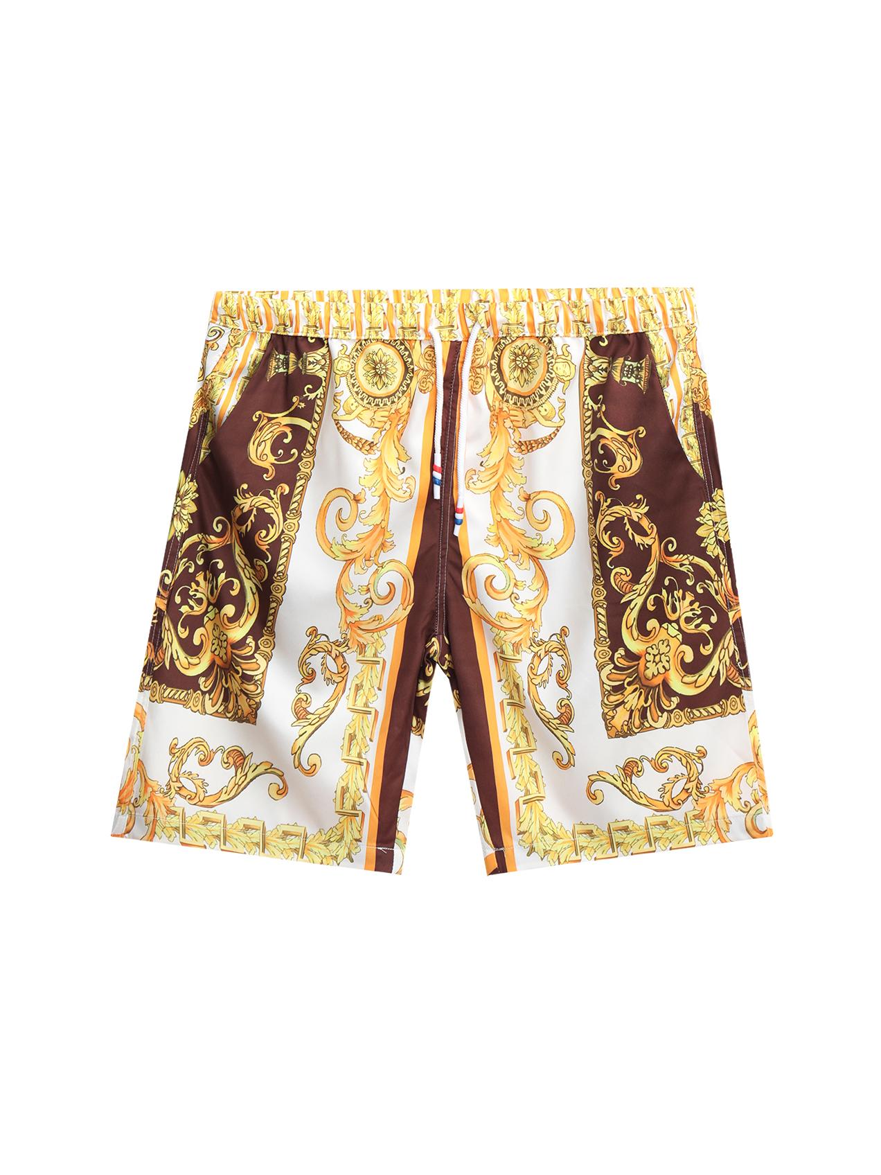 Particular Print Loose Fitting Half Pants For Men