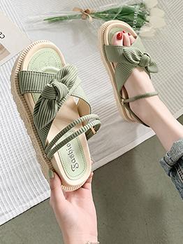 Summer Pastoral Style Beach Reversible Sandals