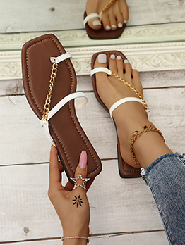 Casual Simple Flat Women Slippers For Summer