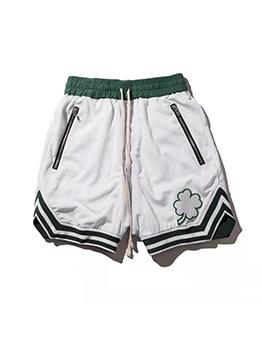 Casual Contrast Color Pulling Ropes Short Pants Men