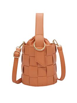 Simple Solid Bucket Handbags For Girls