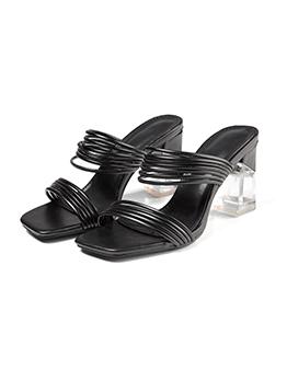Fashion Mid Heel Women Chunky Slippers