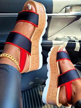 Vintage Summer Wedge Chunky Sandals Women