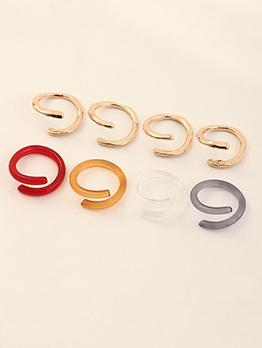 Irregular Geometric Solid Simple Ring For Women