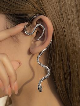 Vintage Snake Rhinestone Ear-Hook For Women