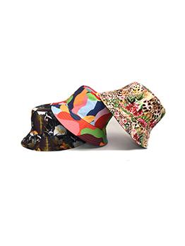 Unisex Leopard Printed Multicolored Bucket Hat