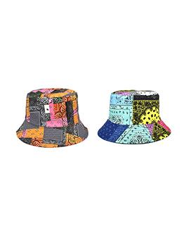 Contrast Color Unisex  Paisley Printed Bucket Hat
