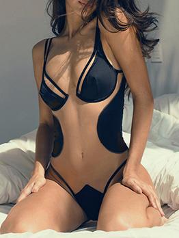 V Neck Sexy Transparent One Pieces Bodysuits