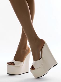 Street Fashion Peep Toe Wedge Slippers Summer
