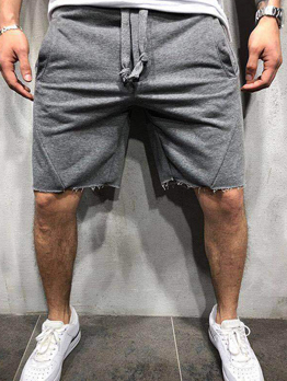 Breathable Solid Color Casual Half Pants