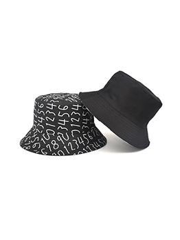 New Letter Black Designer Bucket Hat