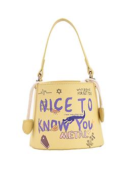 Lovely Letter Print Bucket Handbags For Women