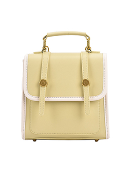 Stylish Simple Contrast Color Backpacks For Women