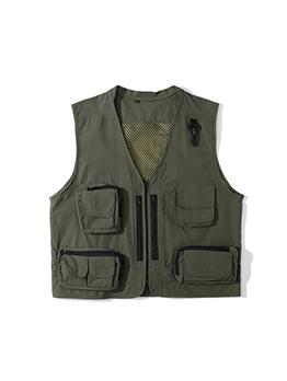 Fashion Solid Pocket Zipper Jacket For Men
