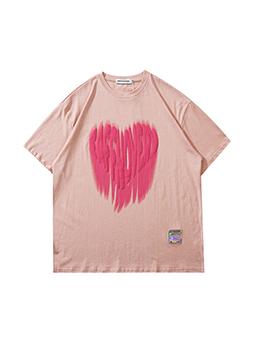 Casual Printed Short Sleeve Lovers Tee