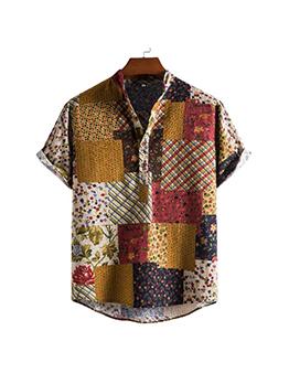 Vintage Short Sleeve Shirts For Men