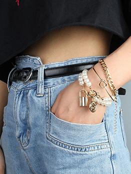Personality Punk Street Faux-Pearl Stylish Bracelet