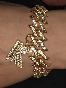 Vintage Full Rhinestone Women Cuba Bracelet