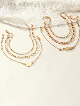 Easy Matching Rose Crescent Solid Bracelet Sets