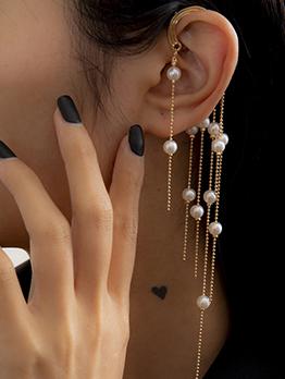 Fashion faux pearl tassel earring for women