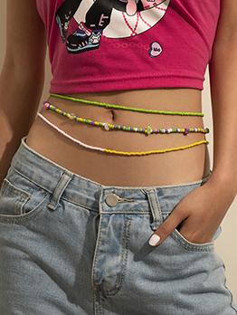 Bohemia Multicolored Beading Waist Chain For Women