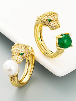 Fashion Animal Zircon Rhinestone Ring For Unisex