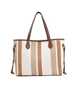 New Contrast Color Striped Designer Tote Bags