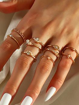 Easy Matching Faux Pearl Rhinestone Ring Sets