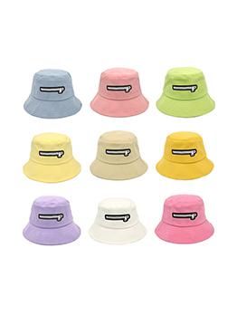 Summer Travel Sun-Prof Zipper Print Fisherman Hat