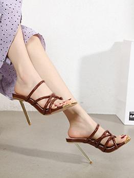 Fashion Elegant Heel Slippers For Women