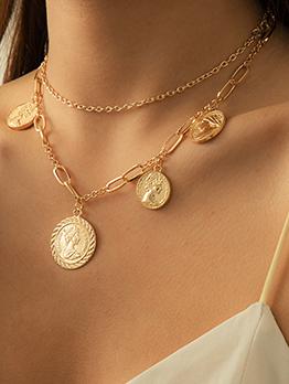 Vintage Simple Pendant Necklace For Women