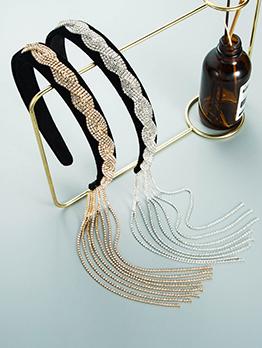 Personality Vintage French Style Tassel Hair Hoop