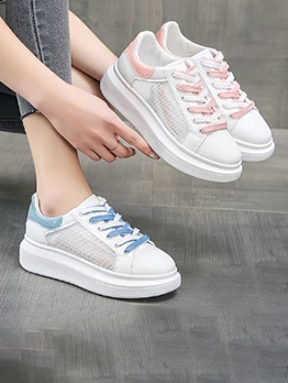 Korean Style Contrast Color Sneakers Shoes