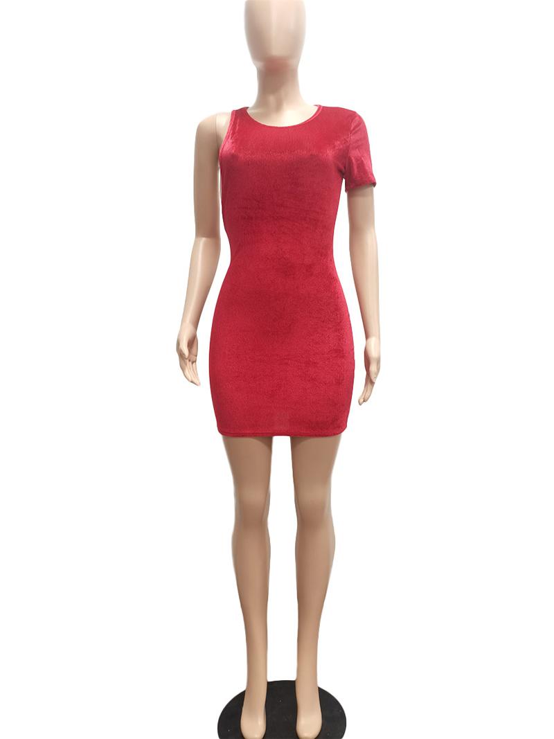 Individual Solid Bodycon Tight Sleeveless Dress