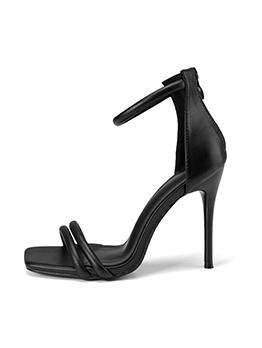 New Square Toe Stiletto Ladies Sandal