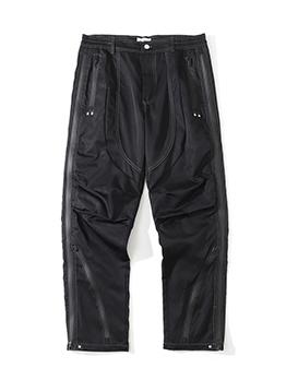New Trend Solid Zipper Cargo Pants For Men