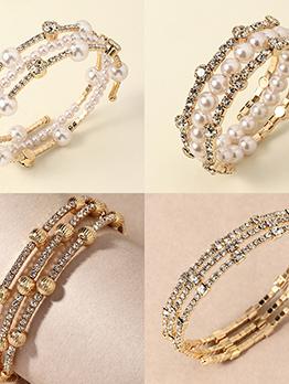 Vintage Faux Pearl Bracelet For Girls