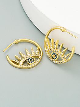 New Eye Zircon Earrings For Girls