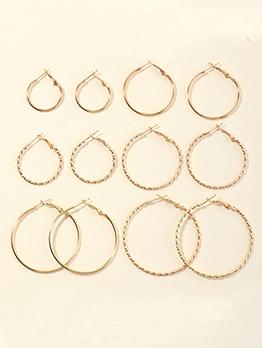 Simple Fashion Geometry C-Shape Earrings