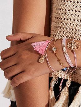 Bohemian Style Simple Tassel Bracelet Sets
