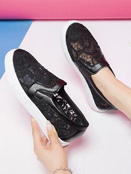 Korean Style Gauze Casual Slip On Shoes Women