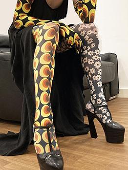 New Gauze Contrast Color Long Pants