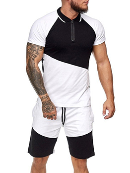 Leisure Running Short Sleeve Two Pieces Outfits