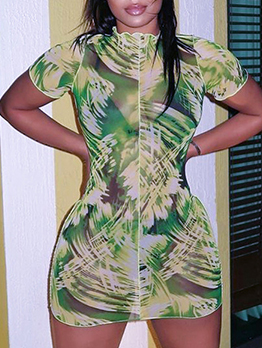 Summer Tie Dye Stringy Selvedge Bodycon Dresses
