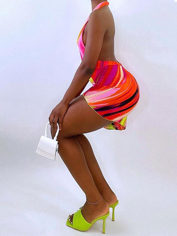 New Arrival Halter Backless Short Dresses Ladies