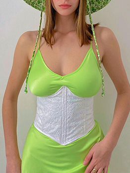 Modern Plain White Corset For Women