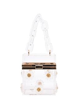 Beach Floral Perspective Box Hardness Shoulder Bag