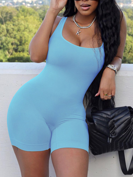 Pure Casual Sleeveless One Piece Romper