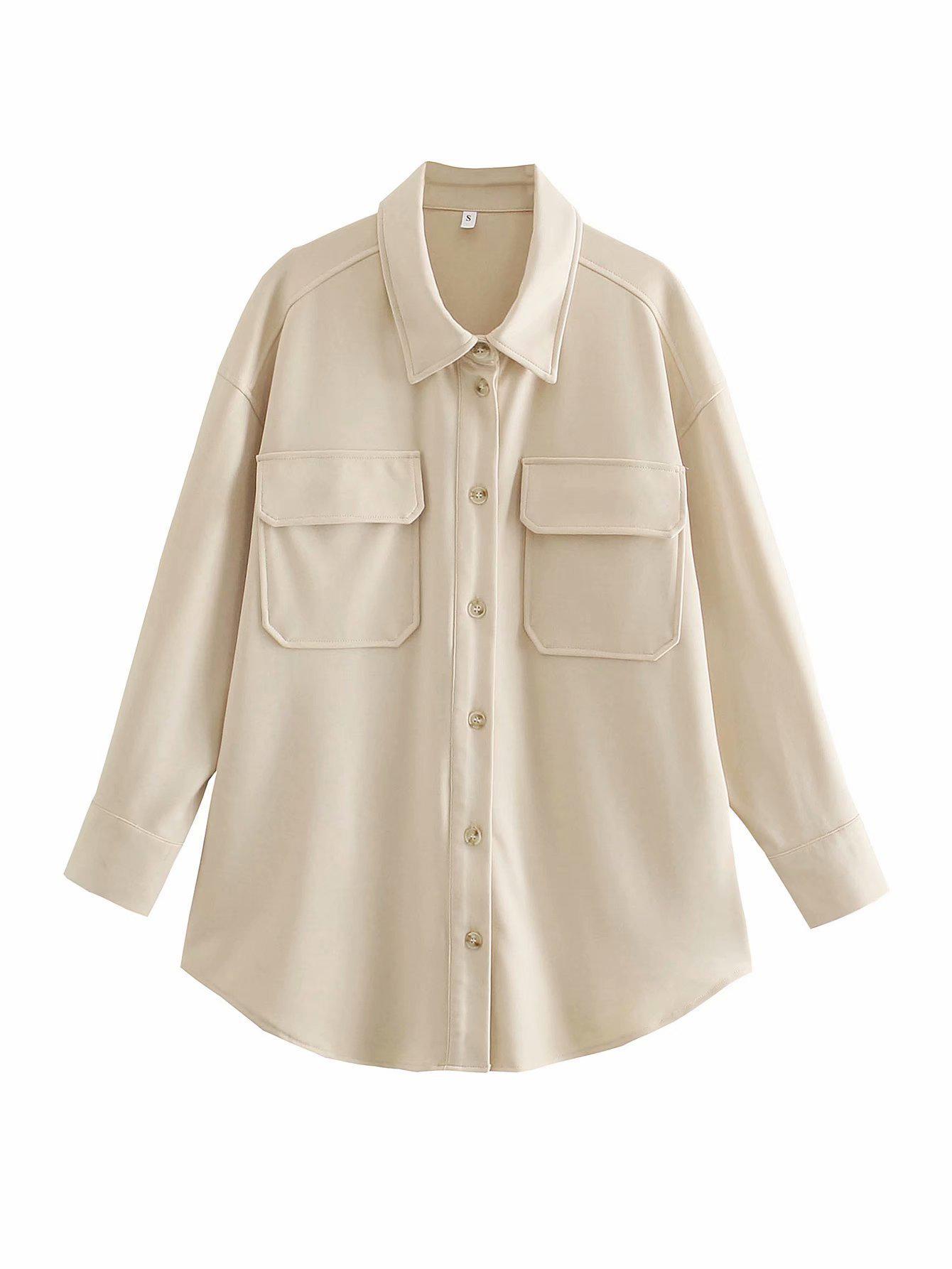 Casual Long Sleeve Single Button Coat