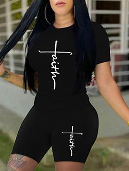 T Shirt Design Top And Short Set